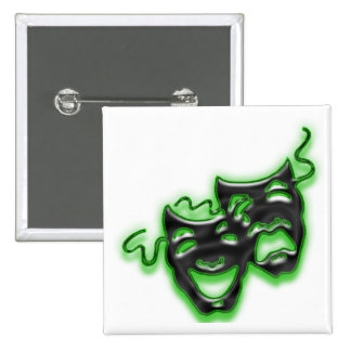 Large Neon Green Masks Square Button