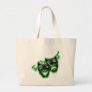 Large Neon Green Masks Tote Bag