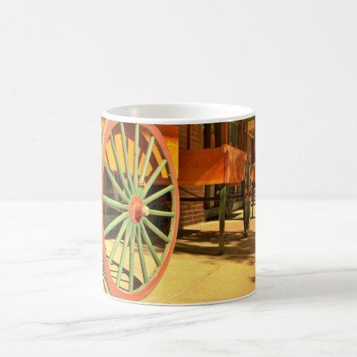 Large Old Fashioned Wagon Wheels Mugs