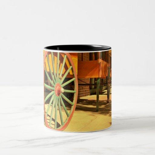 Large Old Fashioned Wagon Wheels Mug