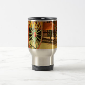 Large Old Fashioned Wagon Wheels Stainless Steel Travel Mug