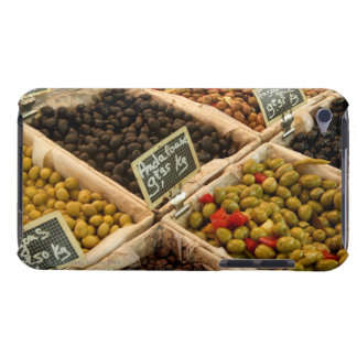 Large open boxes of black and green olives for Case-Mate iPod touch case