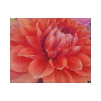 Large Orange Dahlia Canvas Print