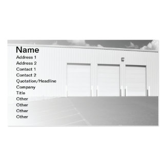 large outdoor utility garage business card template