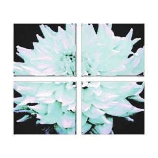 Large Pale Blue Dahlia Stretched Canvas Print