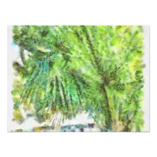 Large palm tree art photo