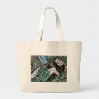 Large Panda Pla y Blurred Mosaic Jumbo Tote Bag