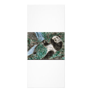 Large Panda Pla y Blurred Mosaic Rack Card Design
