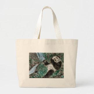 Large Panda Pla y Blurred Mosaic Jumbo Tote Bag