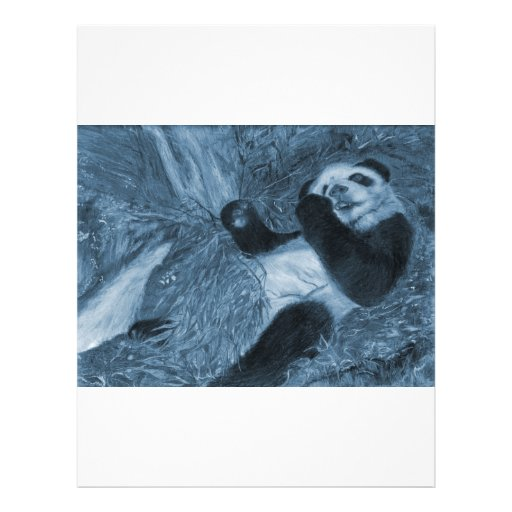 Large Panda Play Blue Hue Custom Flyer