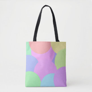 Large pastel circles tote bag