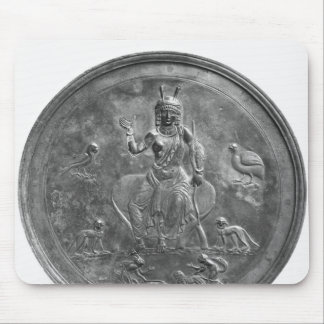 Large patera depicting a goddess mouse pad
