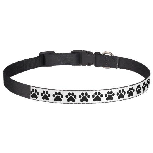 Large Paw Print Pattern Dog Collar