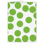 Large Pea Green Dots on White.