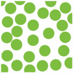 Large Pea Green Dots on White. Acrylic Cut Out