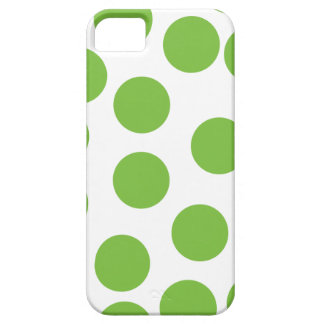 Large Pea Green Dots on White. Barely There iPhone 5 Case