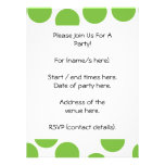 Large Pea Green Dots on White. Custom Announcement