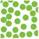 Large Pea Green Dots on White. Photo Cutouts