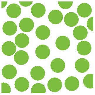 Large Pea Green Dots on White. Cut Outs