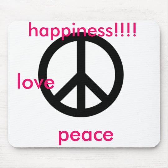 large_peace_symbol, love, peace, happiness!!!! mouse mat