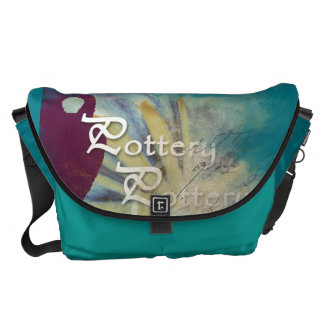 Large Peacock color Pottery themed Messenger Bag
