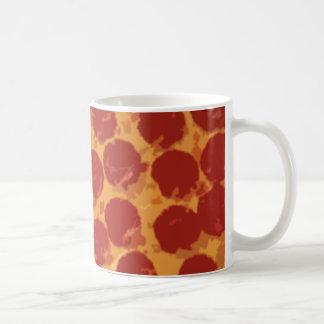 Large Pepperoni Pizza Basic White Mug