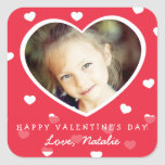 Large Personalised Valentine Photo Stickers / Red