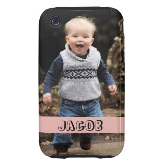 Large photo personalize your own pink band iPhone 3 tough cover