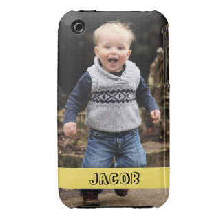 Large photo personalize your own yellow band iPhone 3 covers