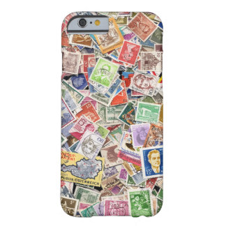 Large pile of postage stamps barely there iPhone 6 case