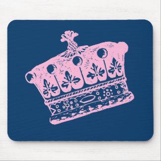 Large Pink Crown or Tiara Mouse Pad