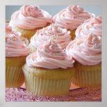 Large pink cupcakes poster