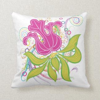 Large Pink Water Lilly Cushion