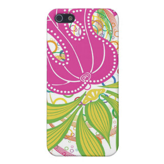 Large Pink Water Lilly iPhone 5/5S Covers