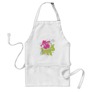 Large Pink Water Lilly Standard Apron