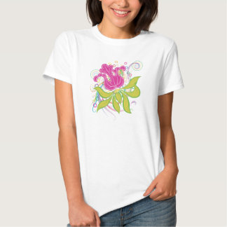 Large Pink Water Lilly Tee Shirts