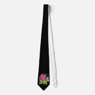 Large Pink Water Lilly Tie