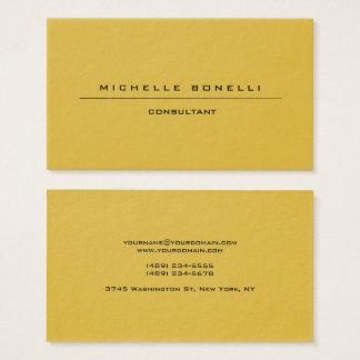 Large Plain Unique Special Gold Color Background Business Card