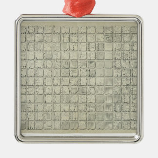 Large plaque with ideographic writing from the Tem Christmas Ornament