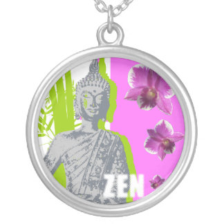 Large Plated Money Round Collar ZEN Silver Plated Necklace