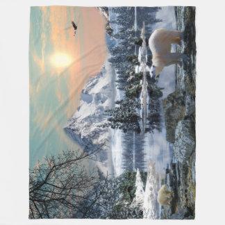 Large Polar Bear Fleece Blanket