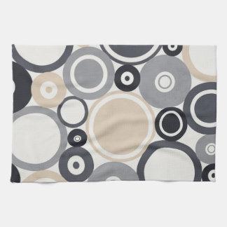 Large polka dots grey and brown Kitchen Towel