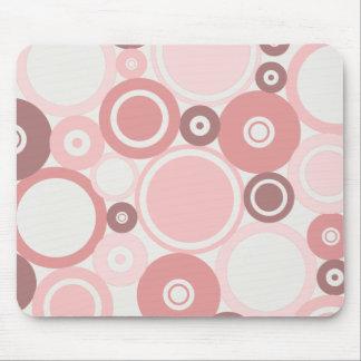 Large Polka Dots Peach theme Mousepad