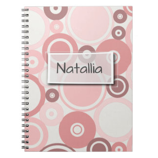Large Polka Dots Peach Theme Notebook