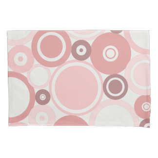 Large Polka Dots Peach theme Pillow Case