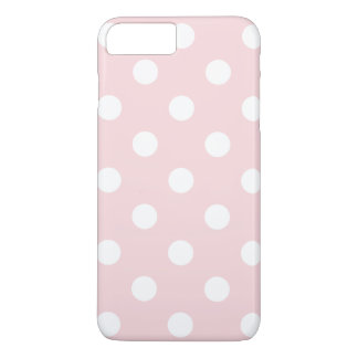 Large Polka Dots - White on Pale Pink iPhone 8 Plus/7 Plus Case