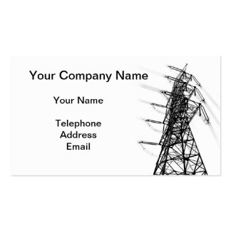 Large Powermast as Part of Electric Grid Business Card Templates