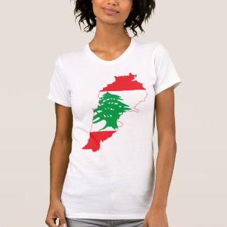 LARGE PRINT Lebanon Flag Map Tshirts