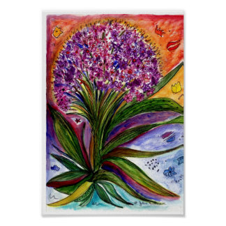 Large purple bouquet poster
