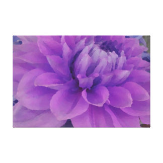 Large Purple Dahlia Gallery Wrapped Canvas